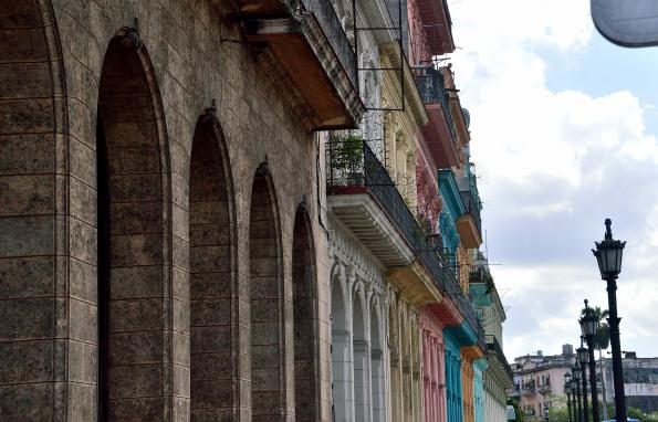 Colorful buildings in Havana