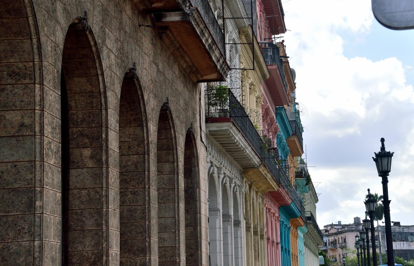 Colorful buildings in Havana