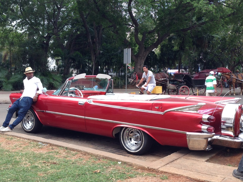 No day in Cuba is complete without a cool dude and an even cooler car