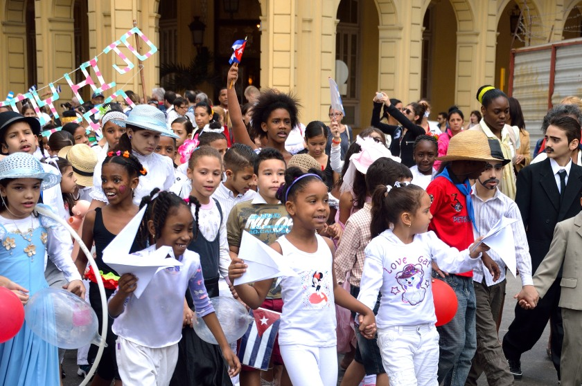School children celebrating Jose Marti's birthday