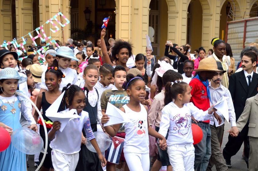 School children celebrating Jose Marti's birthday
