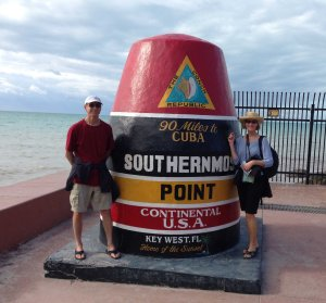 In Key West a marker indicates the southernmost point in the continental U.S. (just 90 miles from Cuba!)