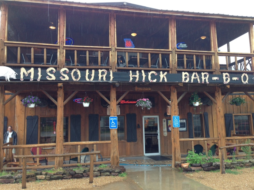 Missouri Hick Bar-B-Q in Cuba, Mo. Very different from the Cuba we visited in January.