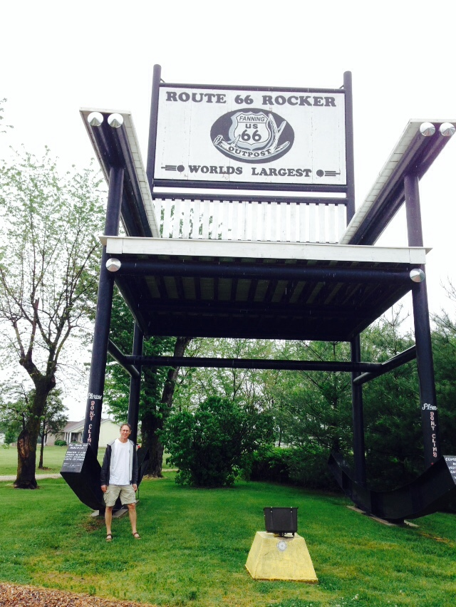 World's largest rocking chair in Fanning, Mo.