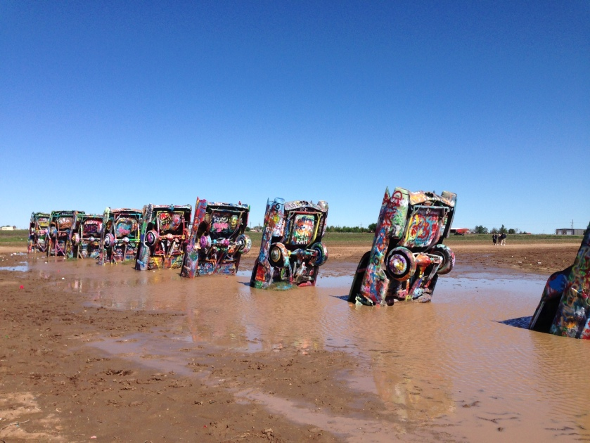 The Cadillac Ranch outside of Amarillo, TX.