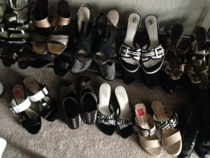 This is just a small portion of her shoe collection... which puts mine to shame.
