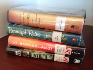 Our latest finds, including a book by my newest favorite author, Barbara Kingsolver.