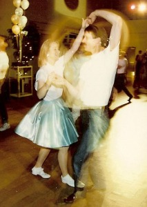 Jitterbugging at a 50s party 26 years ago
