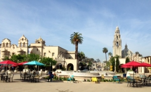 Our 7 bridge hike began in beautiful Balboa Park.