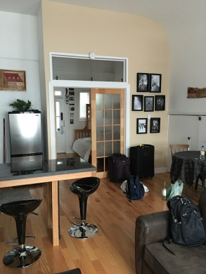 """Our first Airbnb, nicknamed """"The Gallery,"""" was very nice"""