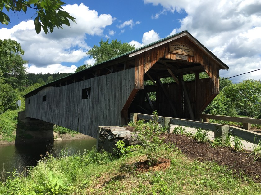 One of a zillion beautiful covered bridges in Vermont