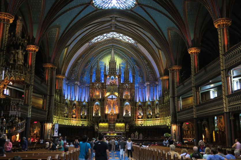 The Notre-Dame Basilica was built in 1829