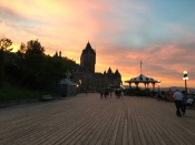 The Terrasse Dufferin is a favorite place to stroll, people watch, and take in gorgeous views of the port and the Saint Lawrence River