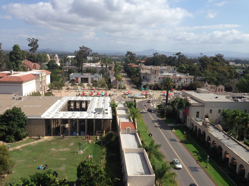 Overlooking Balboa Park, from the top of the California Tower