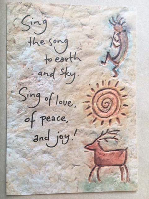 Sing the song to earth and sky. Sing of love, of peace, and joy!