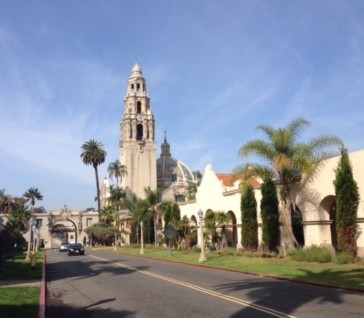The California Tower was designed in the Spanish Colonial Revival Style