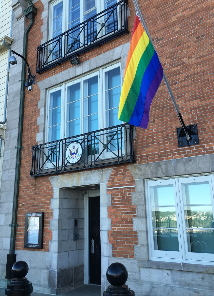 U.S. Consulate General office in Old Quebec, 2016.