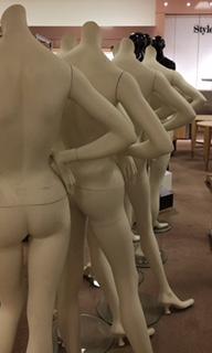 A chorus line of mannnequins