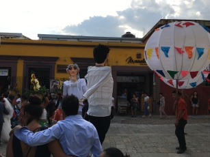 Almost every wedding we saw had giant paper mache figures dressed as husband and wife.