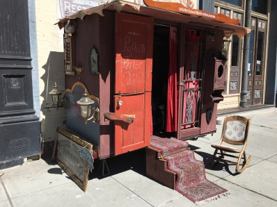 You can get your fortune told just inside this gypsy door