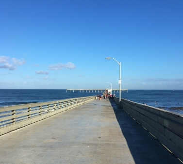 The pier is the longest (at 1,971 feet) concrete pier on the west coast.