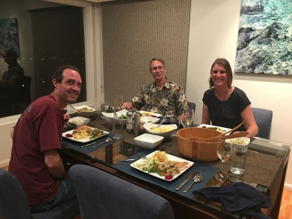 Thanksgiving dinner with blogger friend Liesbet and her husband mark