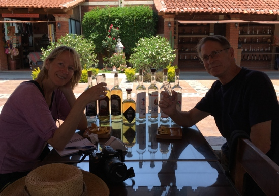 Sampling Mezcal... not our thing